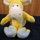 Beverly Hills Teddy Bear Co yellow Giraffe Plush Rattle