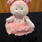 Baby Starters plush Doll pink fur skirt polka dots