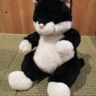 Gund Plush Black White Kitty Cat named Bitsi  #1140