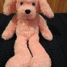 1999 Commonwealth Lovable Huggable Plush Pink Puppy Dog