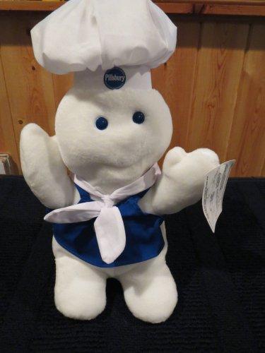 Pillsbury Dough Boy in Apron Scarf Hat Poppin' Fresh giggles