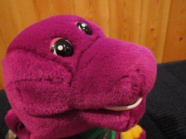 "Plush Singing 11"" Barney The Happy Dinosaur green Heart and I Love You"