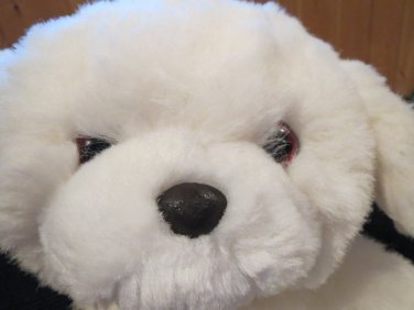 Vintage 1985 Applause White Fluffy Puppy Dog named Trevor