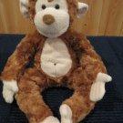 Douglas Cuddle Toys Plush Brown Monkey named Bongo Tan accents