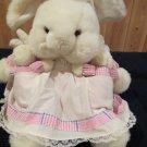 Vintage Plush White Rabbit Twin Babies by Pacifix int'l