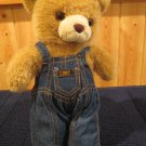 Plush Tan Teddy Bear in Denim Lee Jeans