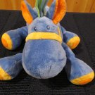 Mary Meyer Plush Blue Horse Orange accents striped mane