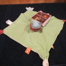 Kids Preferrerd Bacladi Fish / Whale Security blanket named Flo  Green striped