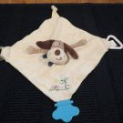 Stephan Baby tan puppy dog  teether Security Blanket Activity Toy