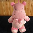 Just one Year Carters pink Hippo Musical Crib Toy