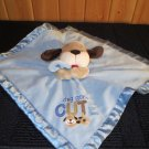 Carter's Blue Security Blanket Tan Puppy 'Dog Gone cute'