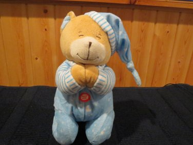 Praying Plush Blue Bear Nightcap stars moon