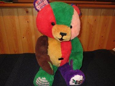 "Princess Soft Toys Rare 1996 20"" PEEF The Christmas Bear vintage doll"