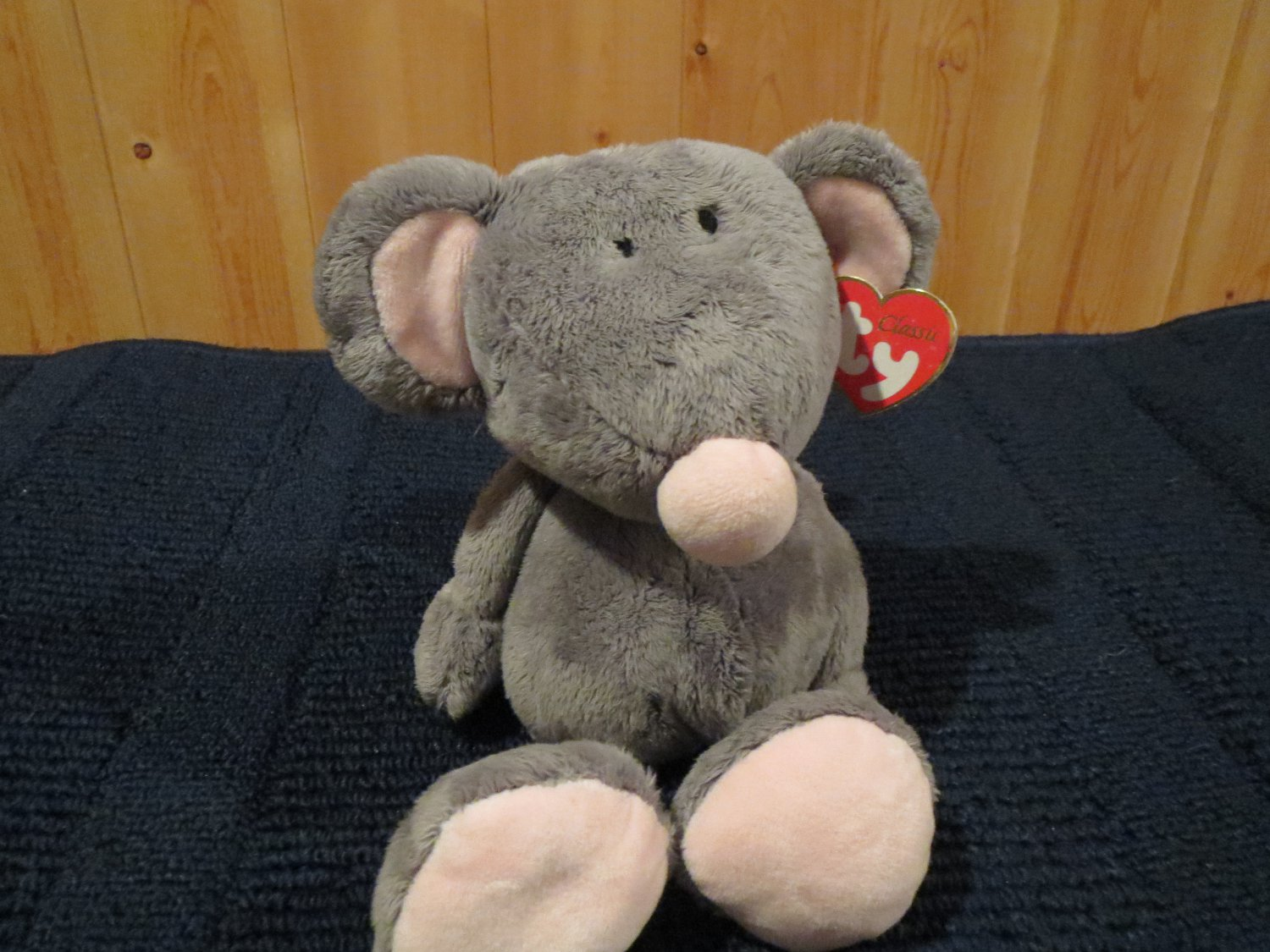 2005 Retired TY Plush Classic Gray Mouse named Rocker