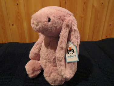 "NWT JellyCat 12"" Super soft Bashful Bunny Rabbit Tulip Pink Plush"
