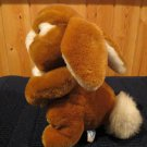 1985 Dakin Fun Farm Plush Brown Rabbit Fluffy white Tail
