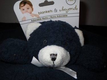 New Blankets & Beyond Dark Blue Bear Security Blanket