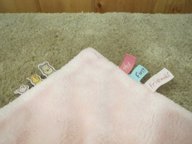Disney Winnie The Pooh Small Pink Security Blanket Tags