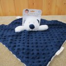 NWT Blankets & Beyond Navy Blue Security Blanket White Bear Nunu
