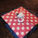 Old Navy Hot Pink Security Blanket White Dots & Rabbit