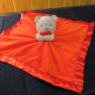 Carters Red Security Blanket Gray Bear holding heart