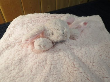 New Blankets & Beyond Pink Bunny Rabbit Security Blanket