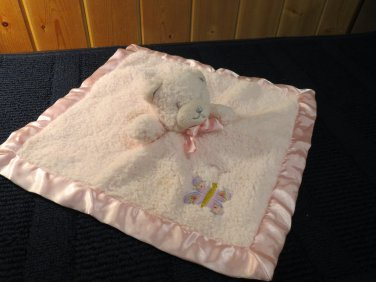 Tiddliwinks Pink Bear Security Blanket with Butterfly
