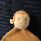 miYim Simply Organic brown Monkey Security blanket Knotted ends