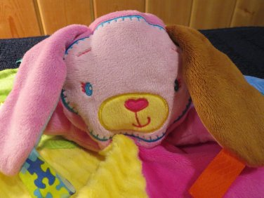 Taggies Bunny Rabbit Patchkins Pals Lovey Security Blanket