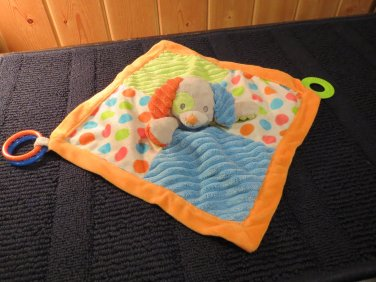 Mary Meyer Baby Puppy Dog Security Blanket with rings and teether