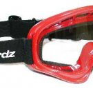 Goggles Red with Clear Lens Dirty Bird Birdz Eyewear