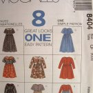 MCCALLS OOP#8404 Uncut Sz 10-14 Dresses in two lengths Sewing Pattern