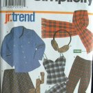 SIMPLICITY #9841 Uncut Sz 3-10 Juniors Separates Sewing Pattern