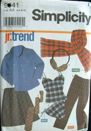 SIMPLICITY #9841 Uncut Sz 3-10 Juniors Separates Sewing Pattern