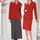 MCCALLS #3713 Uncut Sz 6-12  Semi-fit Shirt-Jacket & Bias Skirt Sewing Pattern