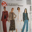 MCCALLS OOP#9465 Uncut Sz 6-10 Cardigan,Top, Pants & Skirt Sewing Pattern