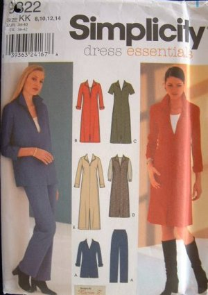 SIMPLICITY OOP#9322 Uncut Sz 8-14 Pants, Tunic, Dress & Jumper Sewing Pattern