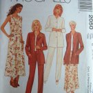 MCCALLS OOP #2050 Uncut Sz 8-12 Jacket, Top, Pants & Skirt Sewing Pattern
