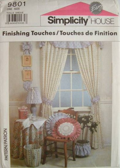 Simplicity #9801 Finishing Touches Sewing Booklet