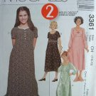 MCCALLS OOP#3361 Uncut Sz 7-10 Empire Waist Dress Sewing Pattern