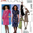 McCalls #3347 Uncut Sz 12-18 Dress w/Jewel Neckline Sewing Pattern