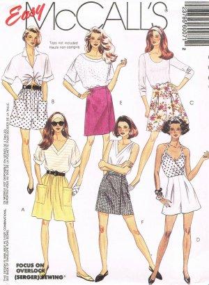 McCalls Uncut #6007 Sz 8-12 Shorts Sewing Pattern