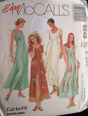 McCalls #9249 Uncut Size 8-12 Dress w/ OverSkirt Sewing Pattern
