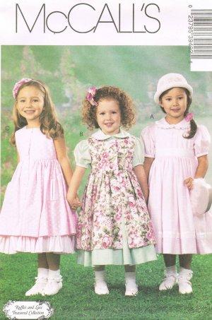 MCCALLS #3949 Uncut Sz 6-8 Loose-fit Dress, Pinafore & Petticoat Sewing Pattern