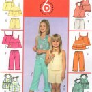 MCCALLS #5036 Uncut Child Sz 3-6 Halter or Speg Strap Top, Shorts & Capris Sewing Pattern