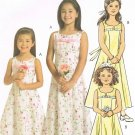 MCCALLS #5309 Uncut Sz 3-6 Sleeveless, Yoked Dress w/Optional Shoulder Straps Sewing Pattern
