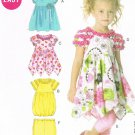 MCCALLS #6272 Uncut Sz 6-8 Girls Short Sleeve Gathered Dresses & Leggings Sewing Pattern