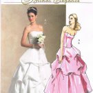 MCCALLS #5321 Uncut Sz 6-12 Bridal or Formal Wear Strapless Top & Flared Skirt Sewing Pattern
