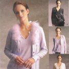 MCCALLS #2472 Uncut Sz Sm-Med Close-fit V-Neck Knit Cardigan & V-Neck Top Sewing Pattern