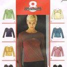 MCCALLS #2886 Uncut Sz 8-10 Bolero & Sleeveless Set Top; Long or 3/4 Sleeves Sewing Pattern